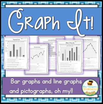 Graphing Practice Printable Activities! (Bar Graphs, Line Graphs, Pictographs)