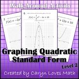 Graphing Quadratic Equations Walk-around Activity-Level 2
