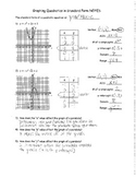 Graphing Quadratics - Standard Form NOTES KEY