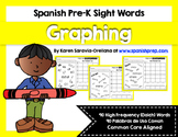 Spanish Pre-Kinder Graphing Sight Words (Dolch)