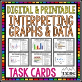 Graphing and Data Task Cards { Interpret Graphs & Data }