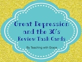 Great Depression Era Task Cards