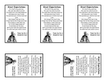 Great Expectations - An End of the Year Note to Parents