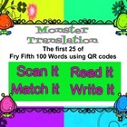 First 25 of FRY Fifth 100 words QR codes - Scan it, Match
