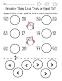 Greater Than, Less Than, and Equal To Worksheet Bundle