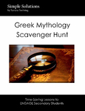 Greek Mythology Scavenger Hunt