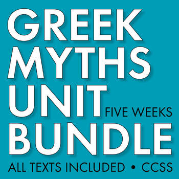 GREEK MYTHOLOGY Unit Plan, Five Full Weeks of Beautifully Designed Lessons