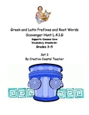 Greek and Latin Root Word Scavenger Hunt Set 3