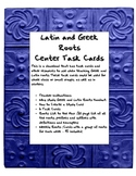 Greek and Latin Roots Center Cards and More
