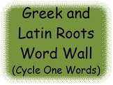 Greek and Latin Roots Word Wall - Weeks 1 though 5 - 5 wee