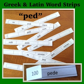 Greek and Latin Word Strips: ped