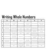 Grid Games for Elementary Math - Whole Numbers