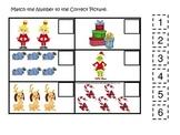 Grinch Christmas themed Match the Number preschool printab