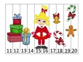 Grinch Christmas themed Number Sequence Puzzle 11-20 presc