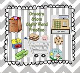 Grocery Store 100 Sight Word Practice Fun!