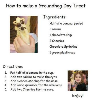 Groundhog Day Treat Recipe Card