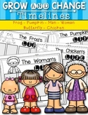 {Grow and Change Timelines} for Kindergarten and First Gra