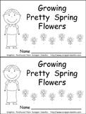 Growing Spring Flowers Emergent Reader- Preschool or Kindergarten