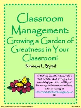 Growing a Garden of Greatness! (Classroom Management)