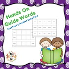 Guide Words ~ Hands On Activity and Task Cards