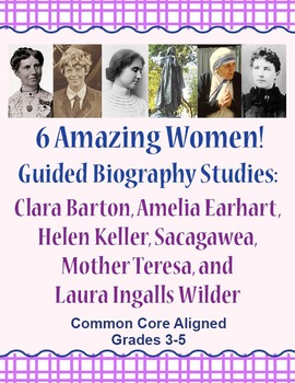 Guided Biography Study Set of 6 Amazing Women