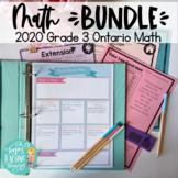 Guided Math Grade 3 Ontario ALL STRANDS BUNDLE