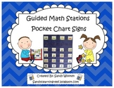 Guided Math Groups and Math Stations Pocket Chart Signs!