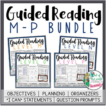 Guided Reading Grade 3 Bundle {Levels M-P} Bonus: Suggested Book Titles!