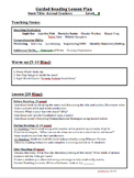Guided Reading Lesson Plan Pack-Level B