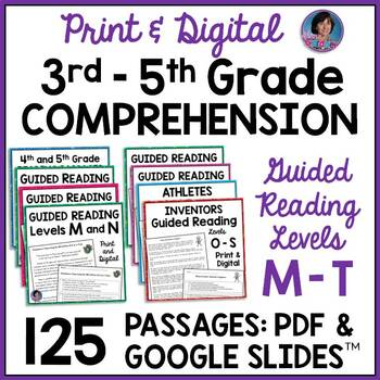 Guided Reading Levels M & N: Reading Comprehension Passages