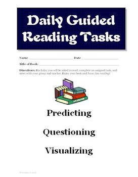 Guided Reading Activities for Novel Study (Common Core aligned)