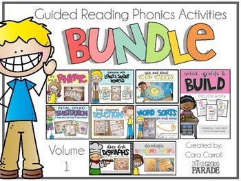 Guided Reading Phonics Activities (The BIG Bundle - Volume 1)