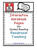 Guided Reading Reciprocal Teaching Interactive Notebook pages