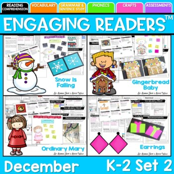 Guiding Readers: December SET TWO NO PREP ELA Unit for K-1