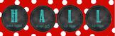 H-A-L-L Chalkboard Door Banner