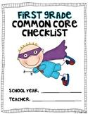 HALF First Grade Common Core MATH Checklist