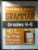 *HARD COPY* Practice & Assess GRAMMAR Grades 4-5