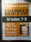 *HARD COPY* Practice & Assess GRAMMAR Grades 7-8