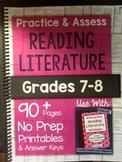 *HARD COPY* Practice & Assess READING LITERATURE Grades 7-8
