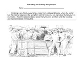 HARRY HOUDINI Magician Biography NOTE-TAKING & OUTLINING S