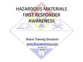 HAZMAT FIRST RESPONDER AWARENESS (Hazardous Materials)