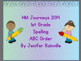 HM Journeys Spelling ABC Order for first grade Lessons 1-30