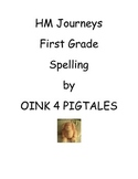 HM Journeys WHOLE YEAR/ First Grade Spelling Cards/PRINT and GO