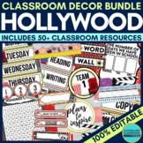 HOLLYWOOD Classroom Theme EDITABLE -34 Printable Product Bundle