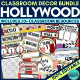 HOLLYWOOD / MOVIES Classroom Theme EDITABLE Decor 34 Print