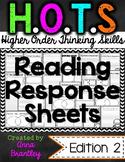 HOTS (Higher Order Thinking Skills) Reading Response Sheet