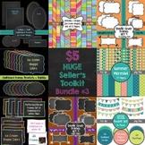 HUGE Seller's Toolkit Bundle #3! Digital Papers, Borders,