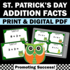 St. Patrick's Day Math Centers Addition Facts Spring Activ