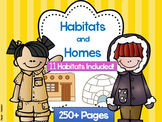 Habitats and Homes with Sorting, Student-Books, and Scrambles