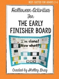 Halloween Activities {for the Early Finisher Board}